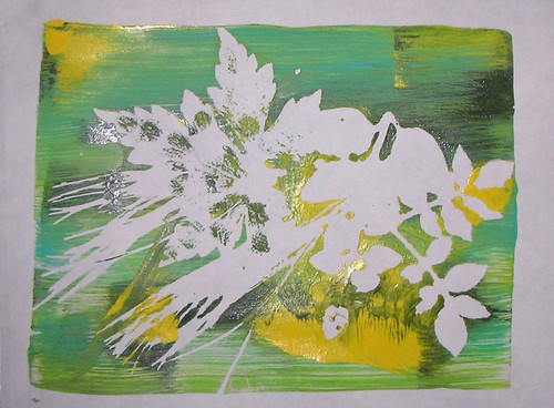 Monoprint on gelatin plate by Susan Baggarly