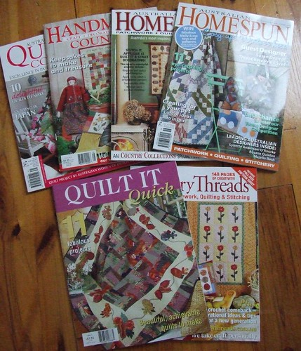 Lots of Aussie Quilt Mags