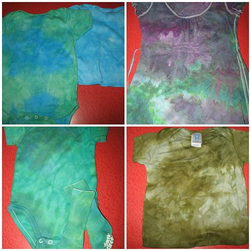 dyed shirts/ onesies