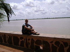 Photoshoot on the Niger River in front of my Segou hotel.