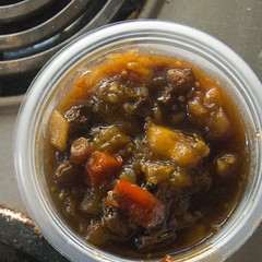 Autumn peach chutney