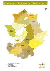 Mapa De Extremadura Comarcas.Extremadura Rural Red Extremena De Desarrollo Rural