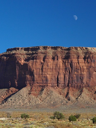 Red Rock, The Moon, and The Horse Corral