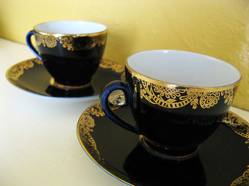 Russian cups, purchased at a bazaar in Azerbaijan.