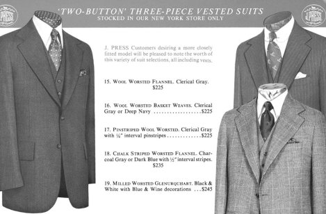 Two-Button Three-Piece Vested Suits