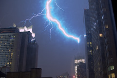 Lightning Strikes NY Times Building