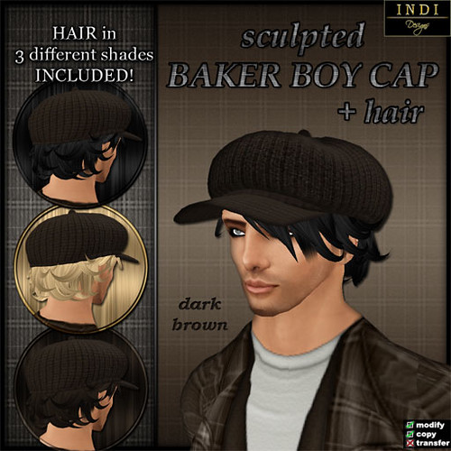 Baker Boy Cap - dark brown