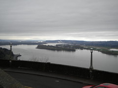 Columbia River Gorge Toward The Ocean