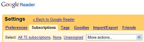 Google Reader - My Subscriptions