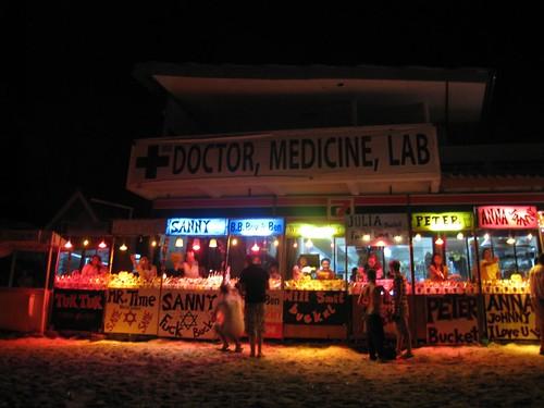 Bucket (liquor) vendors on Haad Rin Beach