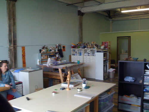 looking back through the whole studio