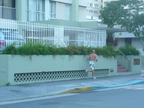 A common sight in Condado, bare-chested men jogging by (I am serious!)