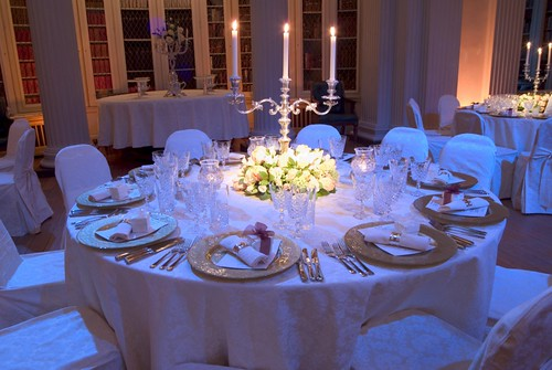 events by designer chair covers small dining tables and chairs uk 88 designs a wedding at the signet library white vintage damask essential seat ties gold charger plates photo on