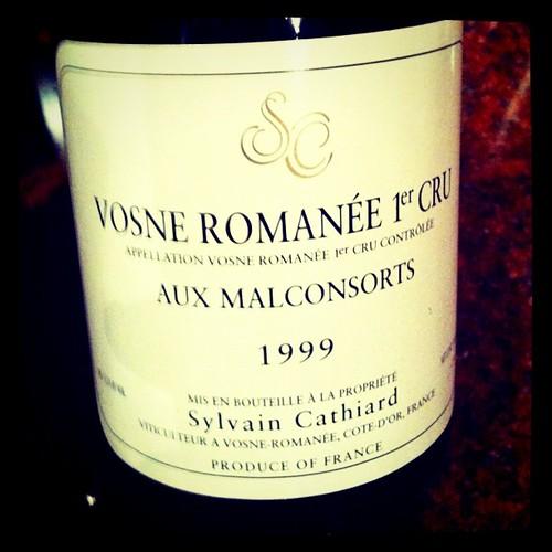 Sylvain Cathiard Vosne Romanee Aux Malconsorts 1999