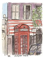phone box on hampstead high street