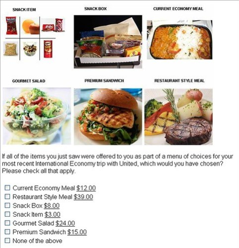 United food charges