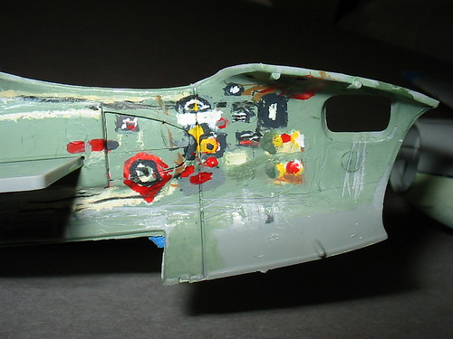 Port side pilot's and nose compartment detailed in paint.