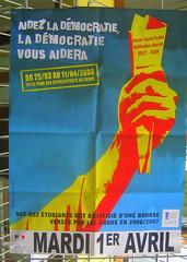 PUB CROUS : AIDEZ LA DEMOCRATIE LA DEMOCRATIE VOUS AIDERA