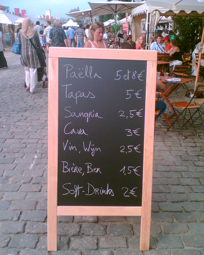 Paella, tapas and sangria.
