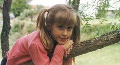 1980s (mid) - Eve - tree - pigtails - 0033