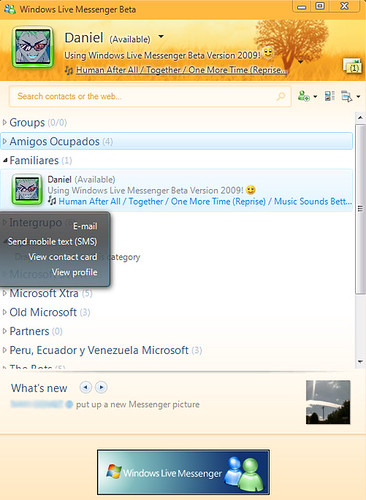 Windows Live Messenger Beta Version 2009