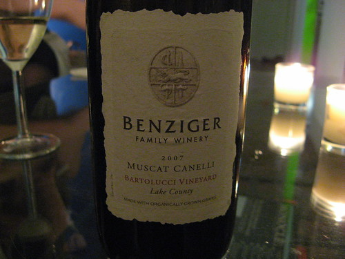 Benziger Muscat Canelli