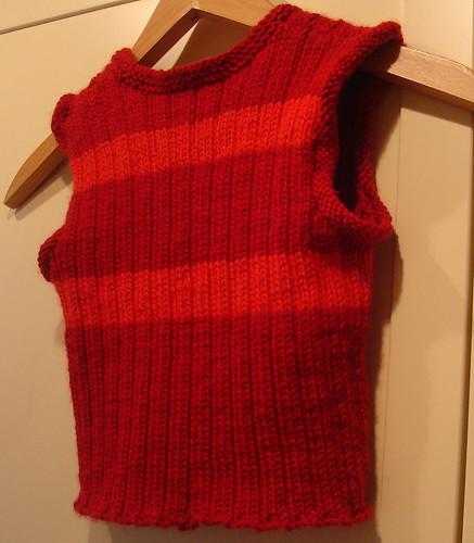 red rib vest
