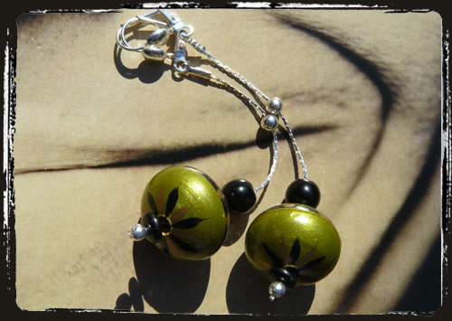 Orecchini verde nero - Green black earrings MEHCVLE