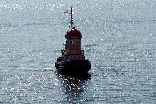 Theodore Tugboat Welcomes Us to Halifax