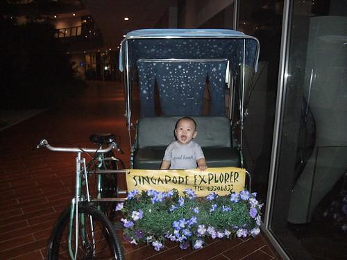 Josh on trishaw
