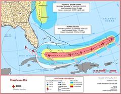 Tropical Storm Hanna & Ike 5pm 09.05.2008