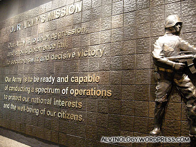 The usual army mission statement
