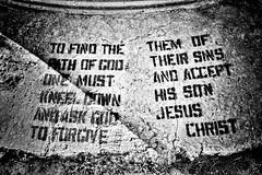 Accept his son Jesus Christ