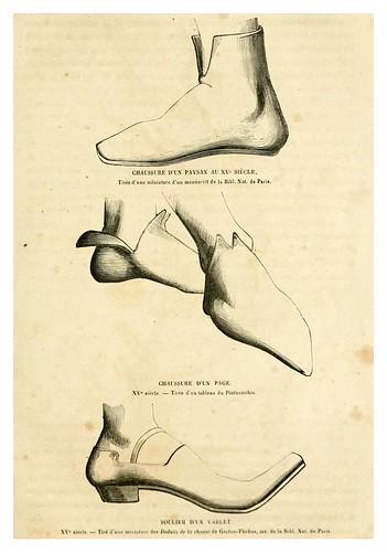 003-Calzado siglo XV-Histoire de la chaussure depuis l'antiquité-1862- Paul Lacroix y Alphonse Duchesne