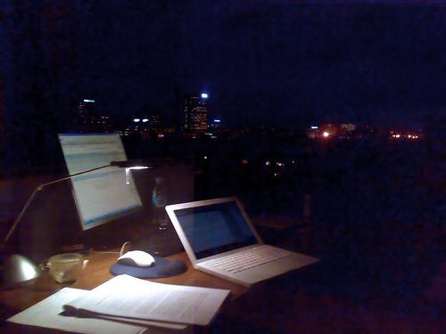 El despacho de noche...By Francesc Esteve