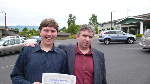 Michael and Ed at his 8th grade graduation