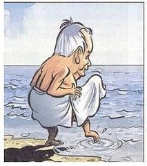 Old man at the beach 2