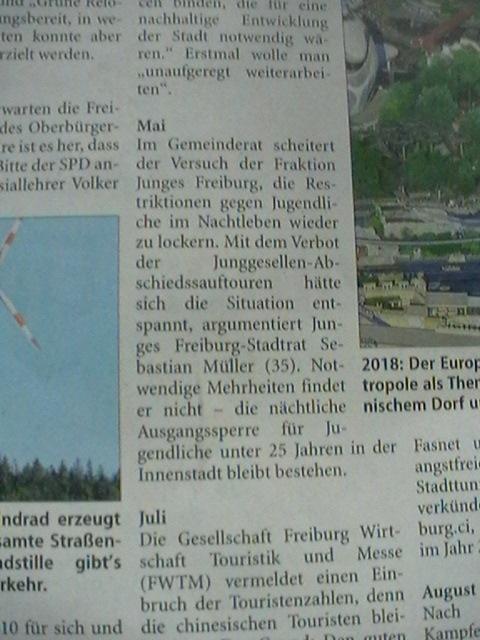und Junges Freiburg gibt es immernoch