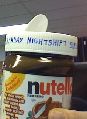 Birthday nightshift survival kit