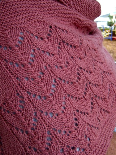 Wool Peddler's shawl detail