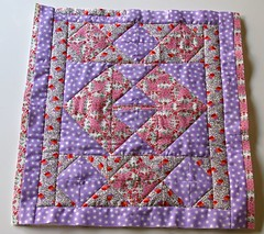 Doll size quilt