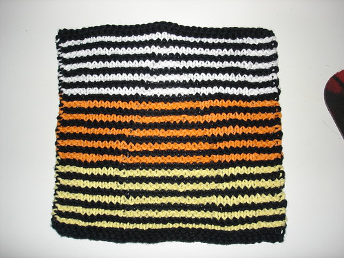 Candy Corn Washcloth