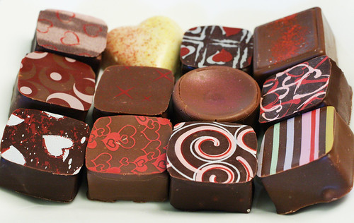Assortment of Valentines Day chocolates. Credit: ccharmon/Flickr