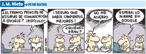 Fe De Ratas - Google Principe Asturias de Comunicacion