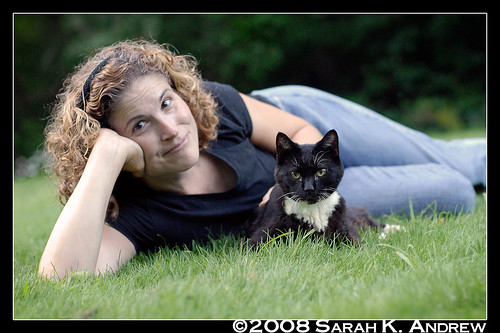 Dee and Herschel the Wonder Cat