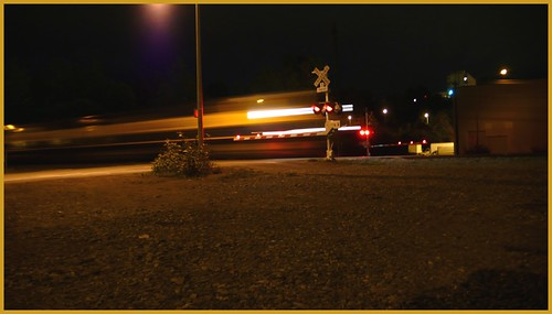Train crossing, Ship Creek Avenue.