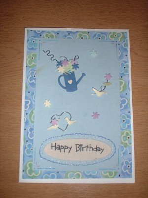 Birthday card i made for one of my grandmothers