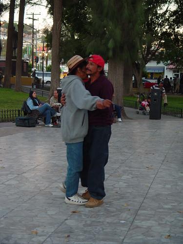 Dancing in public.