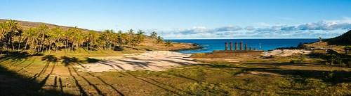 Der Strand im Norden: Anakena