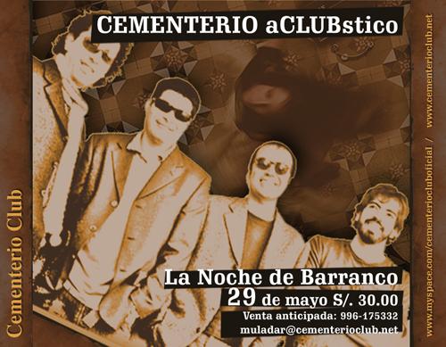 Afiche Cementerio Club